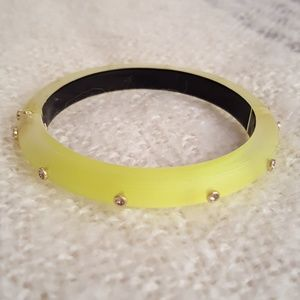 Alexis Bittar Golden Studded Hinged Bracelet